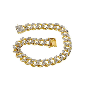 Miami Cuban Link Bracelet 4.22 Cts. Natural  Round Diamond