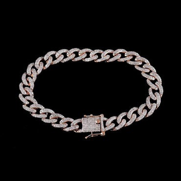 Cuban Link Bracelet for Men rose gold