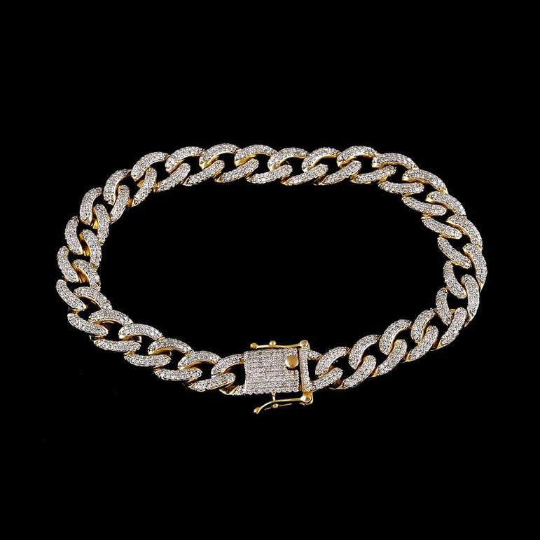 Cuban Link Bracelet for Men yellow gold