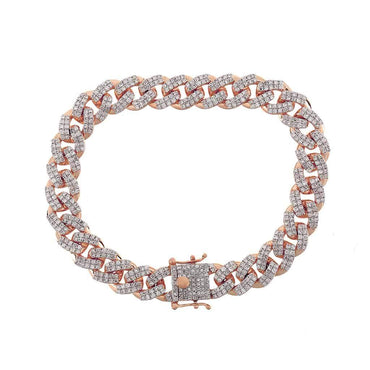 Cuban Link Bracelet rose gold
