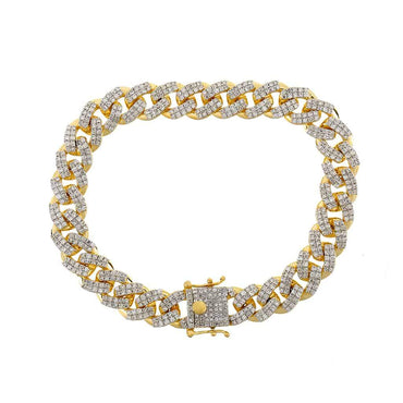 Cuban Link Bracelet yellow gold