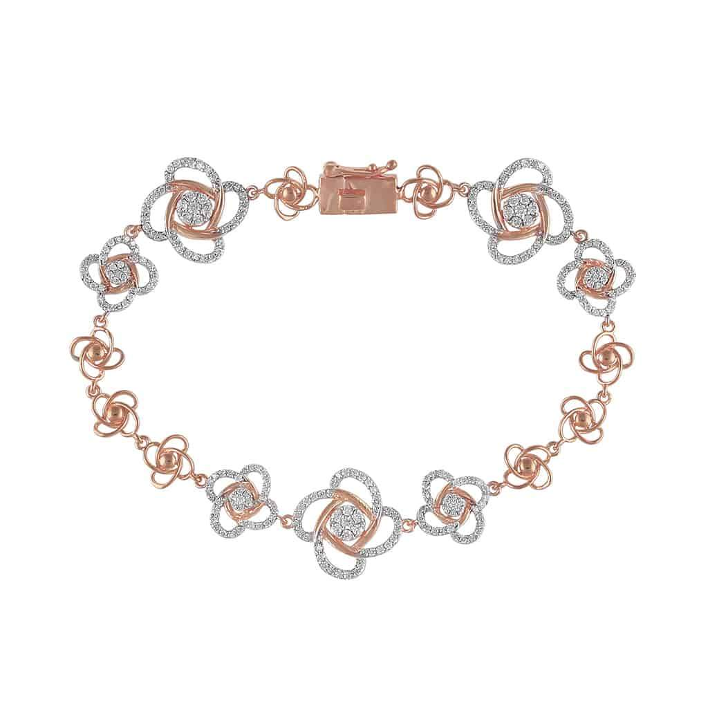 Unique Diamond Bracelet for Women rose gold