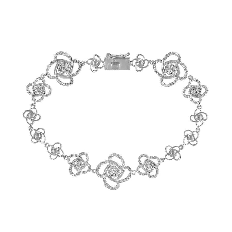 Unique Diamond Bracelet for Women white gold
