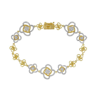Unique Diamond Bracelet for Women yellow gold