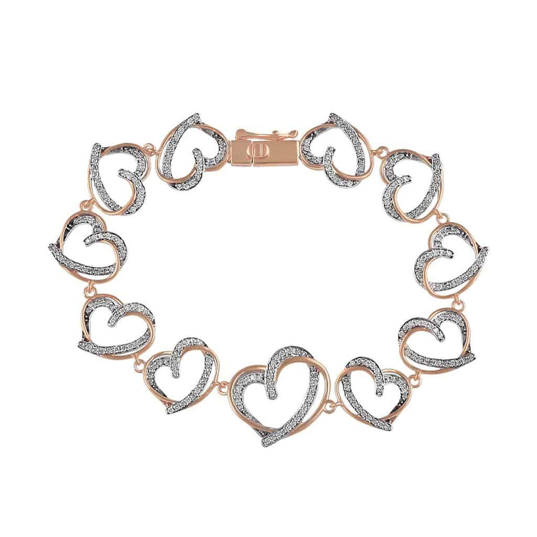 Open Heart Bracelet for Women rose gold