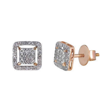 Diamond Stud Earrings for Men rose gold