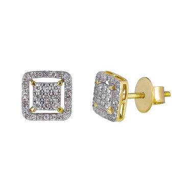 Diamond Stud Earrings for Men yellow gold