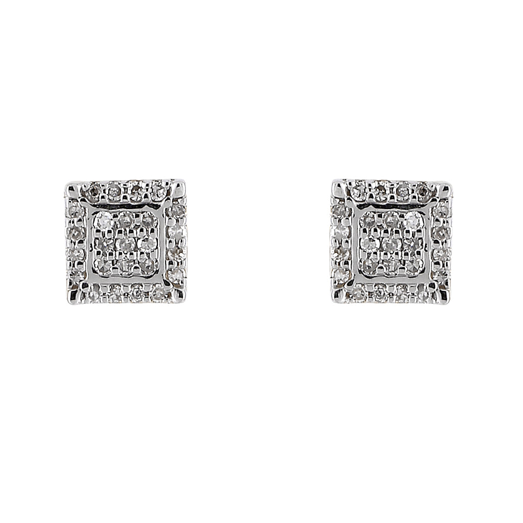 Diamond Square Mens earrings