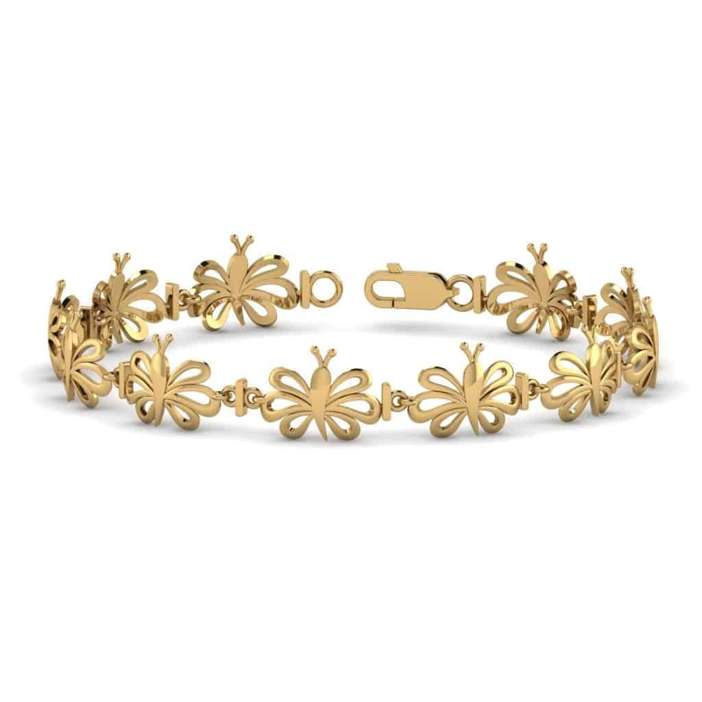 Butterfly Bracelet for Women yellow gold