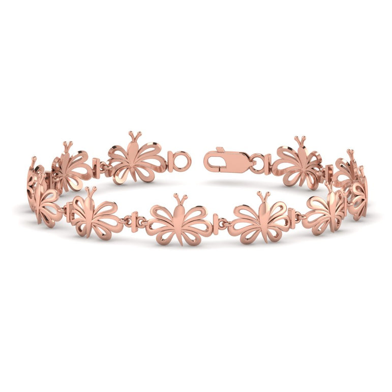 Rose Gold Butterfly Bracelet For Women