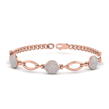 Rose Gold Natural Round Diamond Bracelet