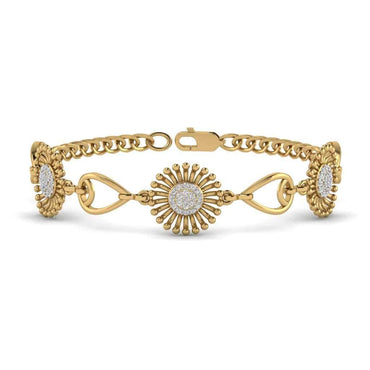 yellow gold Sunflower Bracelet