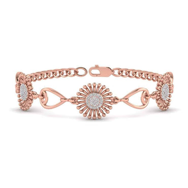 rose gold Sunflower Bracelet
