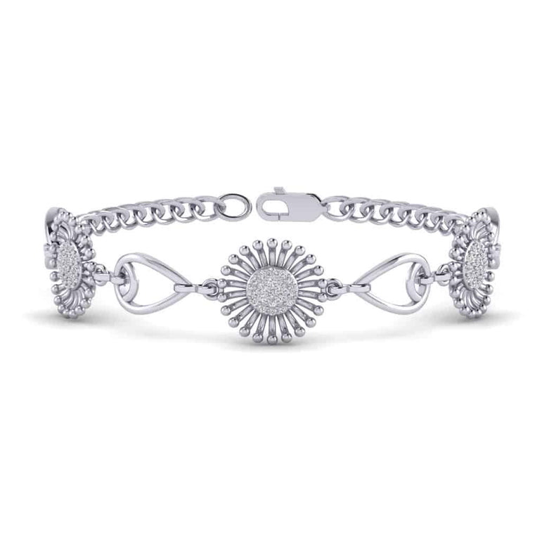 white gold Sunflower Bracelet