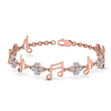 Music Charm Bracelet rose gold