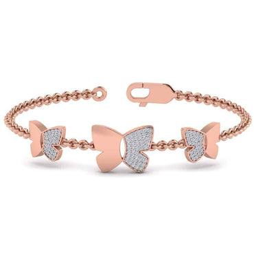 Three Butterfly Bracelet rose Gold