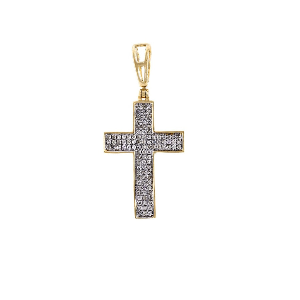 Mens Diamond Cross Pendant Necklace By FEHU Jewel