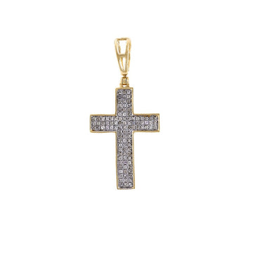 Mens Diamond Cross Pendant Necklace By FEHU