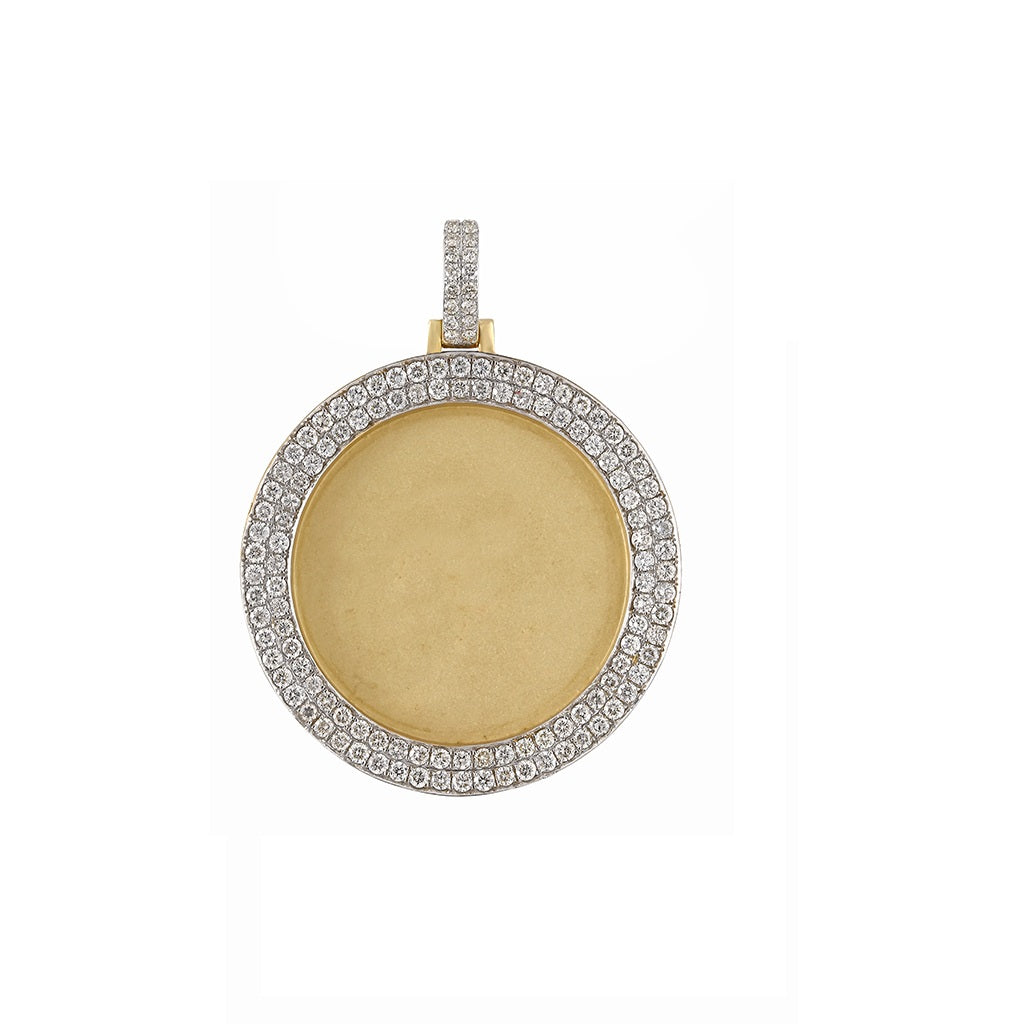 3.37 CT. Round Diamond Photo Pendant By Fehu Jewel