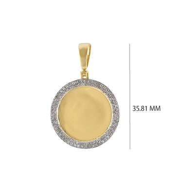 Round Shape Custom Photo Pendant 1/2 CT. Round Diamond  By Fehu Jewel