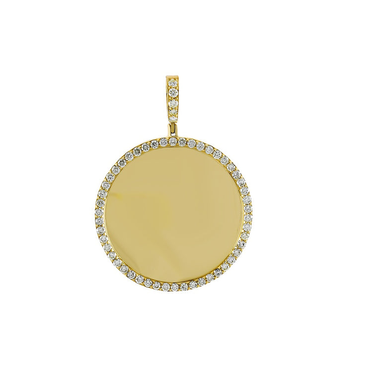 1-1/2 CT. Round Diamond Picture Frame Pendant By Fehu Jewel