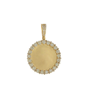1-5/8 CT. Round Diamond Picture Frame Pendant By Fehu Jewel
