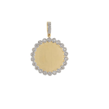 1 CT. Round Diamond Picture Frame Pendant By Fehu Jewel