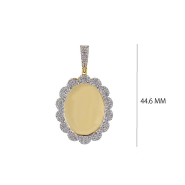 1 CT. Round Diamond Oval Shape Pictures  Pendant By Fehu Jewel