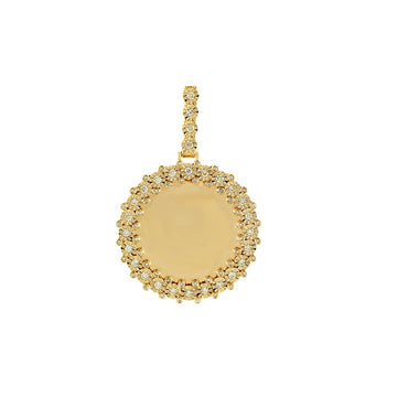 3/4 CT. Round Diamond Picture Frame Pendant By Fehu Jewel