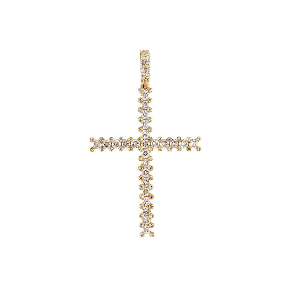 Classic Diamond Cross Pendant Necklace by FEHU