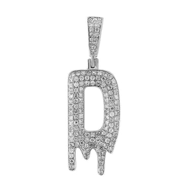 Dripping Initial D Pendant white gold