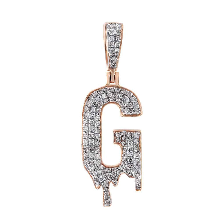 Dripping Initial G Pendant rose gold