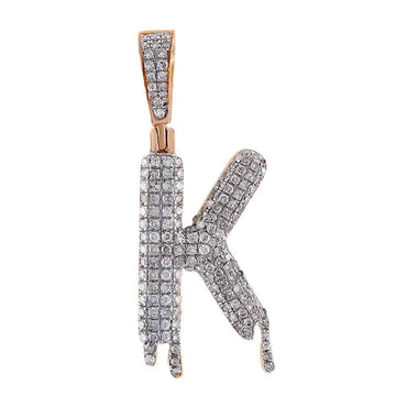 Dripping Initial K Pendant rose gold