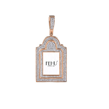 Rose Gold Diamond Picture Frame pendants