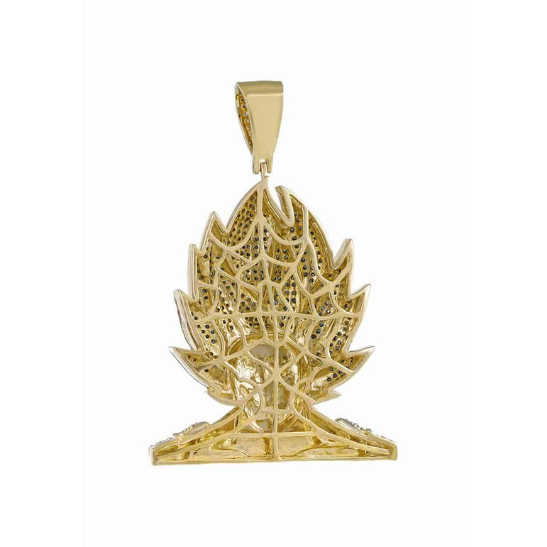 Diamond Vegeta Pendant yellow gold