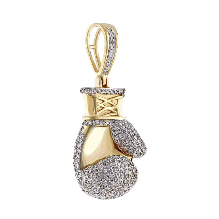 Boxing Glove Pendant yellow gold