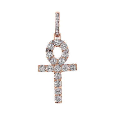 Egyptian Cross Necklace rose gold