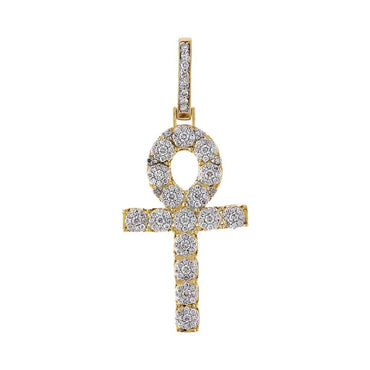 Egyptian Cross Necklace yellow gold