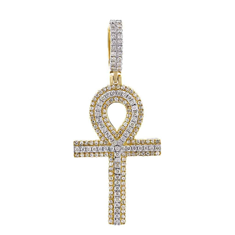 Egyptian Cross Pendant yellow gold