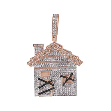 House Pendant for Men rose gold