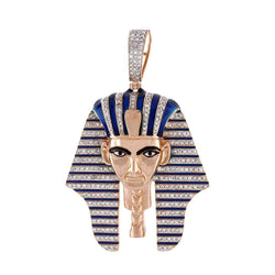 Egyptian Tutankhamen Mummy Pendant rose gold