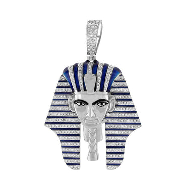 Egyptian Tutankhamen Mummy Pendant white gold