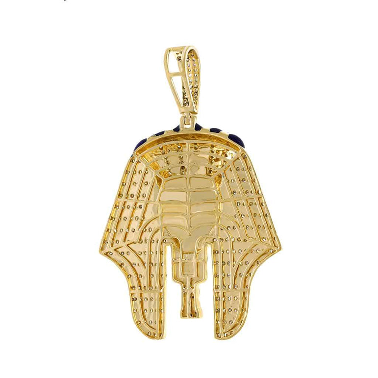 Egyptian Tutankhamen Mummy Pendant yellow gold
