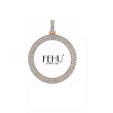 Rose Gold Double Round Diamond Picture Frame