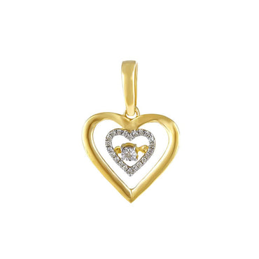 1/10 Cts. Round Diamond Heart Pendant By Fehu Jewel