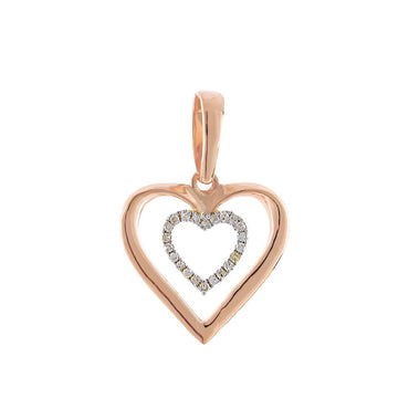 Rose Double Heart Necklace for women