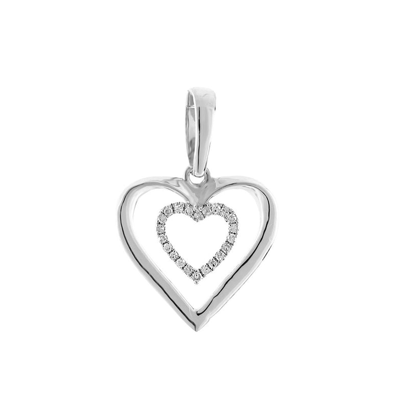 White Double Heart Necklace for women