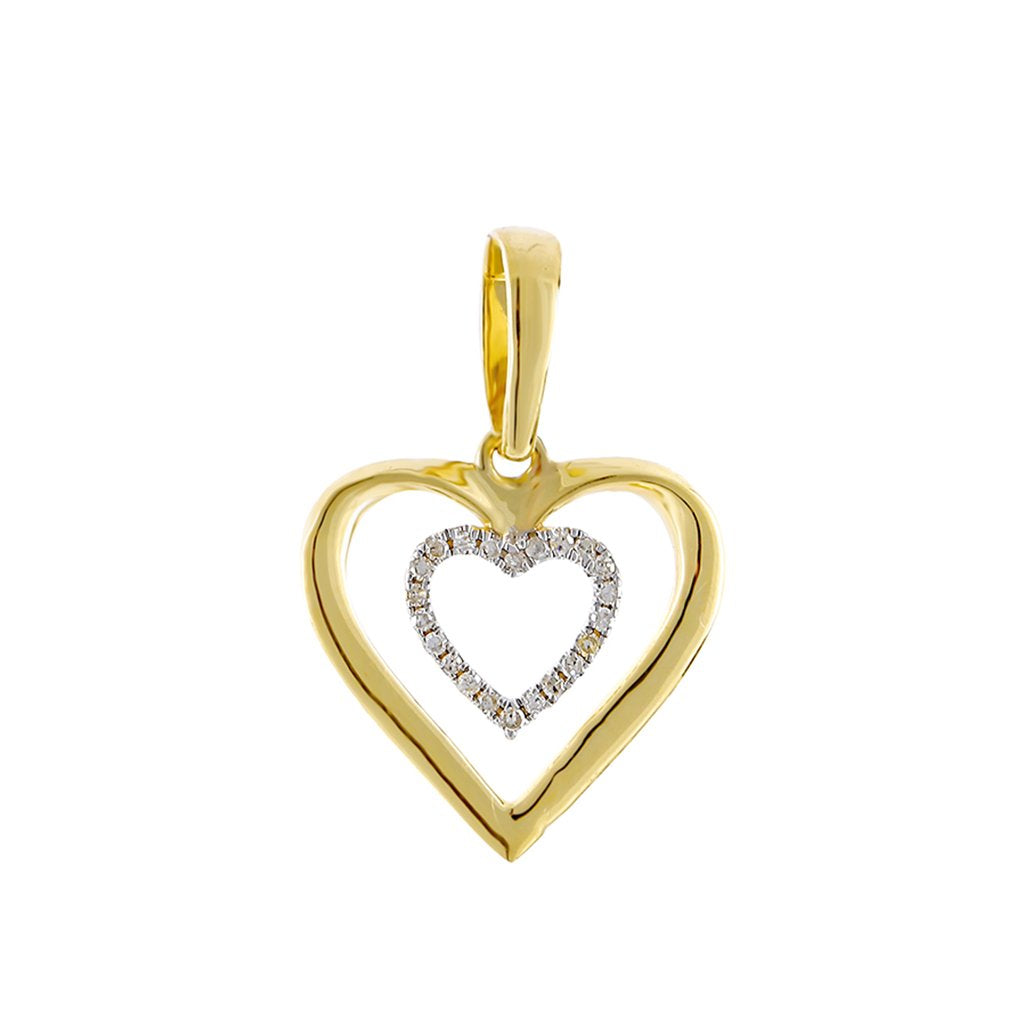 Yellow Double Heart Necklace for women