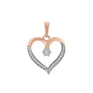 Rose gold Open Heart Diamond Necklace
