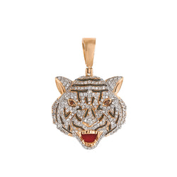 Rose Gold Drake Tiger iced out pendant